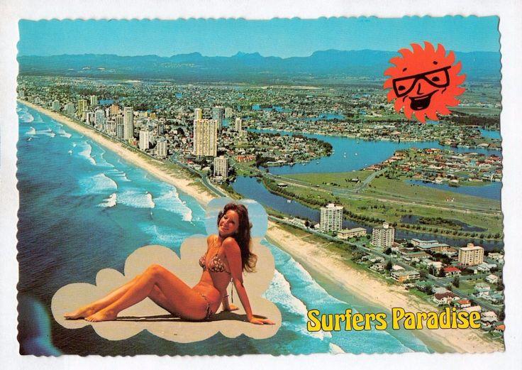 D9965cgt Australia Q Surfers Paradise Gold Coast Aerial View MV vintage postcard | eBay