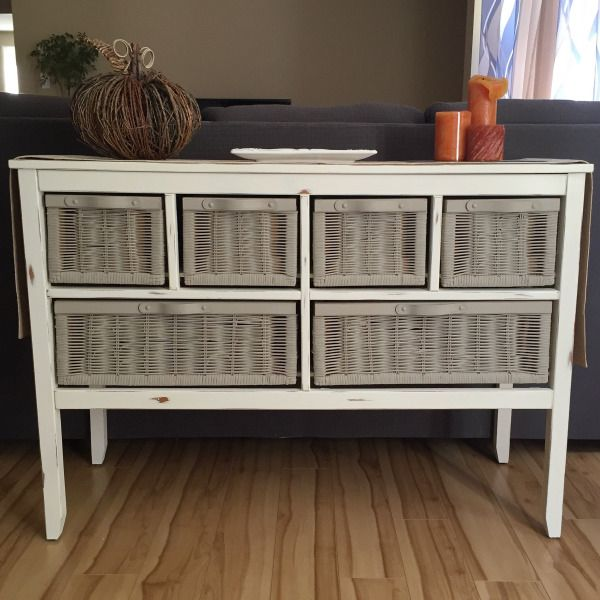 Wicker dresser makeover
