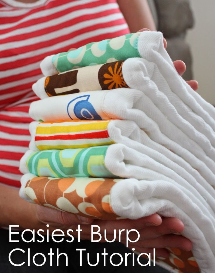Diary of a Quilter - a quilt blog: Perhaps the easiest burp-cloth tutorial ever.
