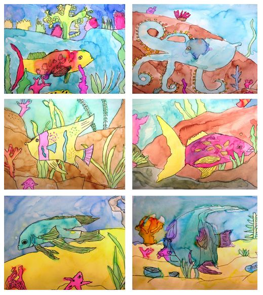 Watercolor Fish Art Project from Deep Space Sparkle blog