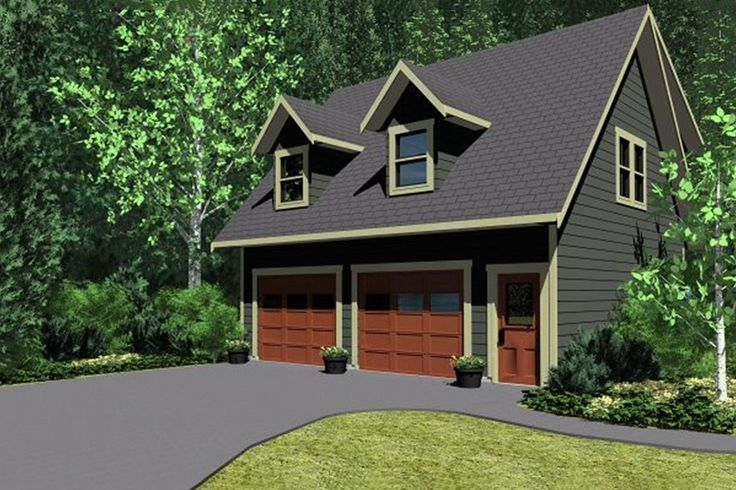 Detached garage plans with living quarters woodworking for Homes with separate living quarters