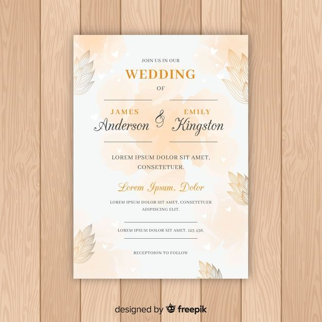 Download Wedding Invitation For Free Id Card Template