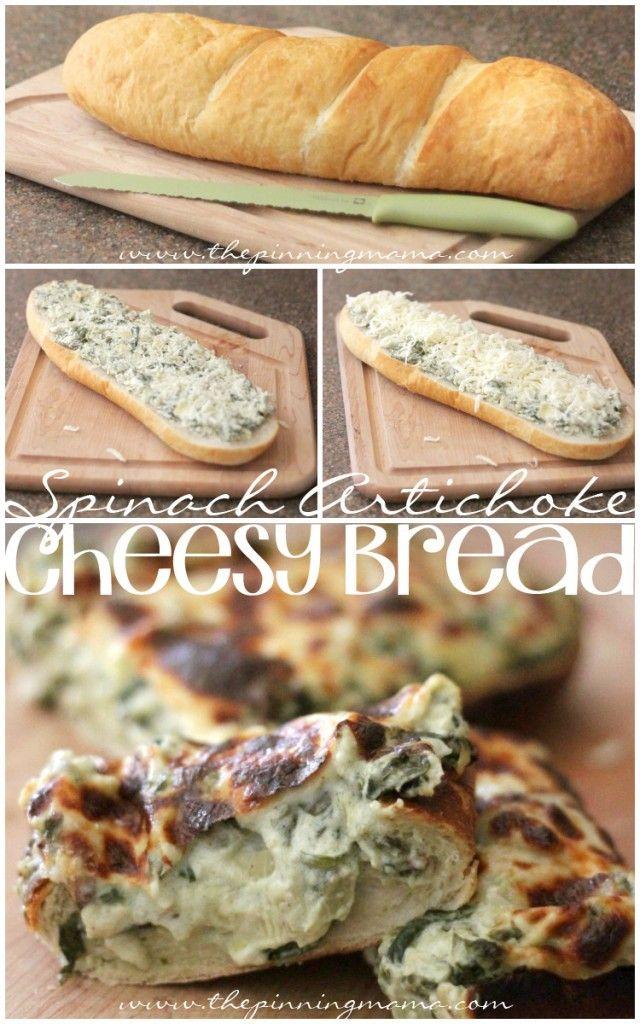 The BEST Spinach Artichoke Bread EVER!
