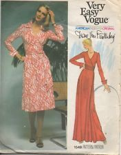 Dvf Wrap Dress Pattern Vintage Vogue pattern