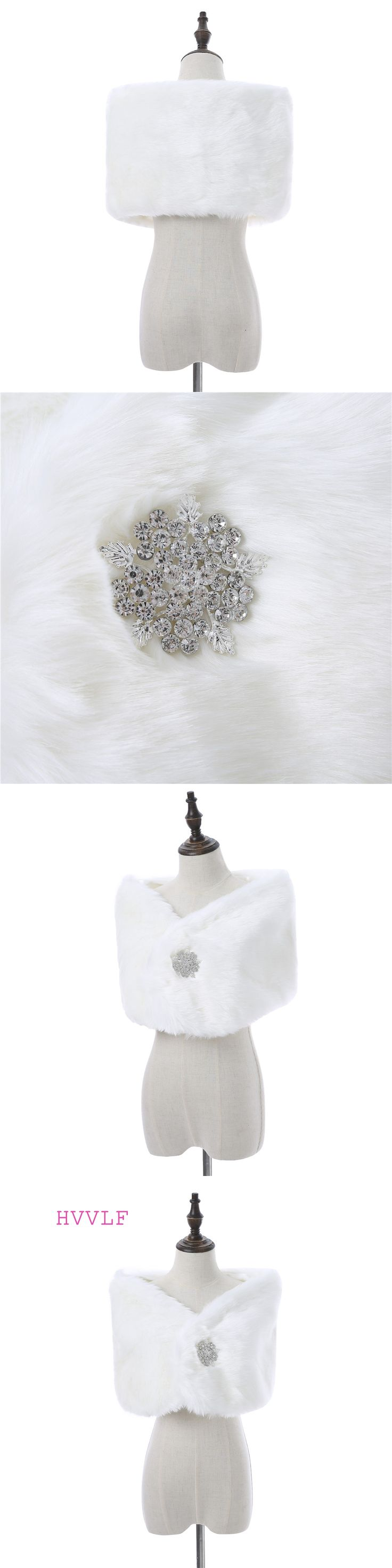 New Arrival Faux Fur Wedding Jackets Without Buttons Winter Bridal Wedding Shawl With Sleeves Worm Jackets Bolero