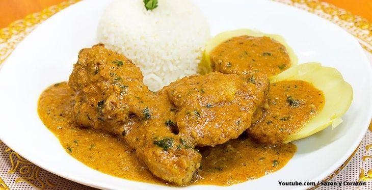 Pollo Al Maní Receta Peruana Para Cocinar Buenazo Y Rápido Recetas Peruanas Plato De Comida Saludable Comida Peruana Recetas