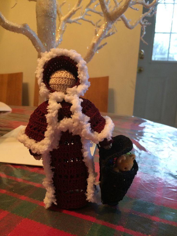 Crochet Santa or old father christmas
