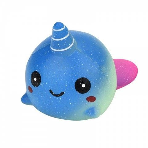 Exquisite Fun Big Whale Scented Squishy Charm Slow Rising 12cm Simulation Vent Hand Toy Decompression Educational Toy