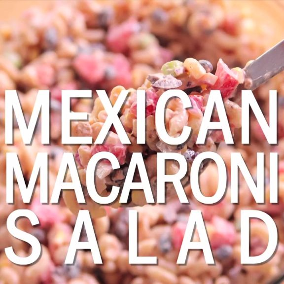 Ree adds a Mexican twist to macaroni salad by adding salsa, black beans and onions to the classic mayonnaise and sour cream dressing.