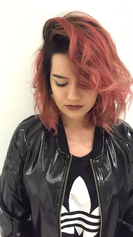 Pinkdream  #wella #instamatic #curls #pastel #pink #bestfriend #babe #rock #rockandroll #bob #hair #hairinspo