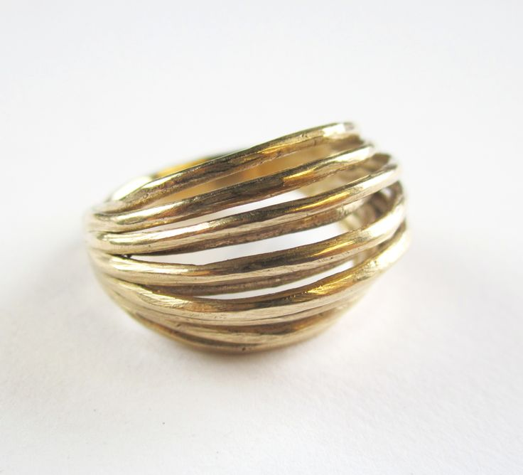 9ct gold reel ring, made by jennifer laracy