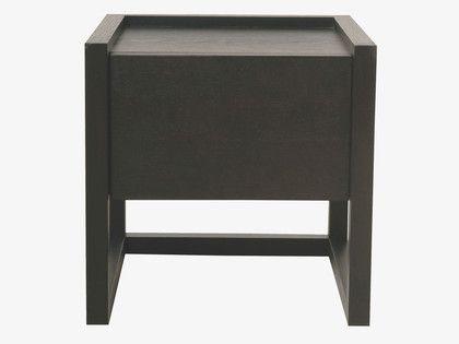 HANA BROWNS Wood Bedside table - HabitatUK