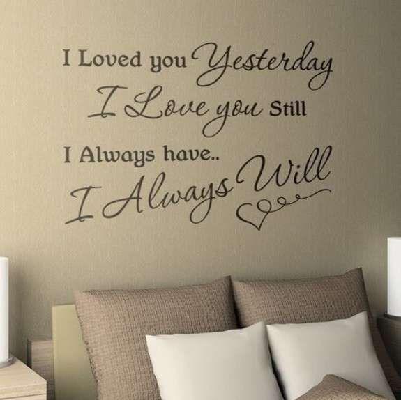 Decorazioni pareti di casa con scritte - Stickers da muro, frase romantica Home walls decorations with lettering - Wall stickers, romantic phrase
