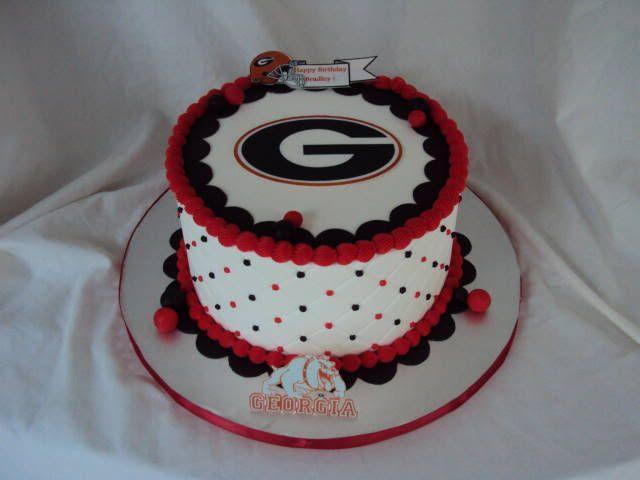 bulldog cake decorations | georgia bulldog football birthday cake children s birthday cakes ...