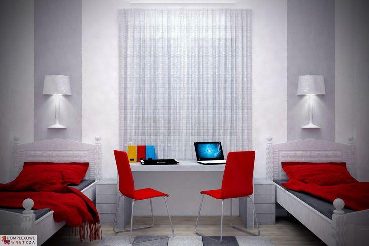 [PL] Aranżacja sypialni wystrój nowoczesny w kolorach biały, czarny, czerwony - projekt wnętrza o id 6635919 w Homplex.pl, Zestaw wyposażenia za 14872 zł  [EN] Bedroom arrangement, modern style, white, black, red color - interior design id 6635919 in Homplex.pl, products set for $4647