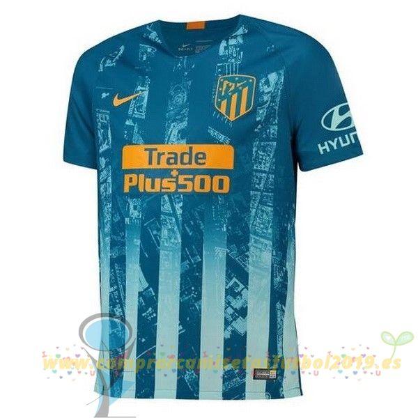 c5c540bcc48fe Nueva Replicas Tercera Camiseta Atlético Madrid 2018 2019 Azul ...