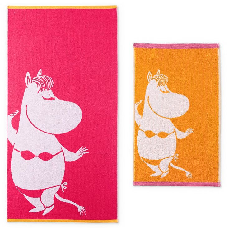 This beautiful�Snorkmaiden�hand�towel and bath towel set by Finlayson presents a cheerful�pattern with Snorkmaiden�in a orange and pink colouring. The towel is made of 100 % cotton and is a great companion at home or at the summer cottage. Size 30 x 50 cm, 70 x 140 cm. Special edition!Finlaysonin kauniin�pyyhesetin kuvituksessa n�hd��n Niiskuneiti, v�rin� pinkki ja oranssi. K�sipyyhe on 100 % puuvillaa ja se sopii yht� hyvin kotiin kuin kes�m�killekin. Koko 30 x 50 cm, 70 x 140 cm…