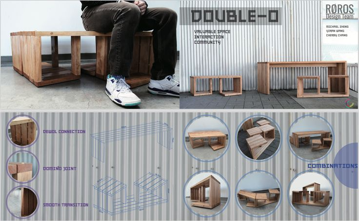 Double-O Outdoor Bench & Table by Team Roros_Michael Zheng, Yiran Wang, Cherry Chang