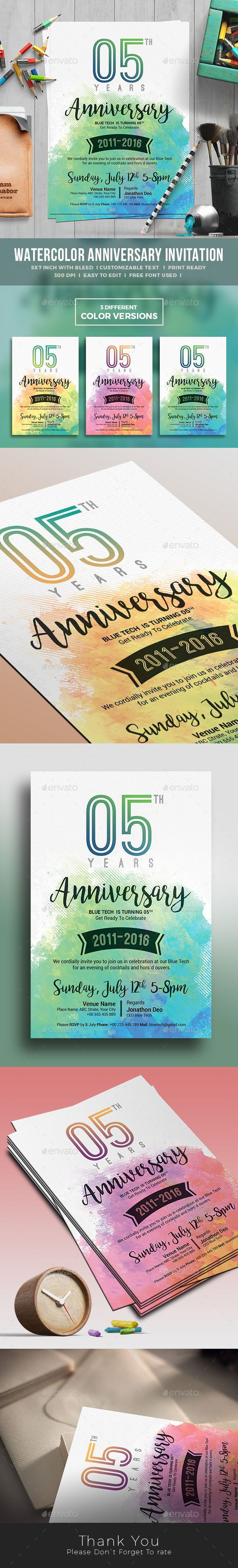 Artistic Water Color Poster Design Download Now https://graphicriver.net/item/anniversary-invitation/17789644?ref=themedevisers