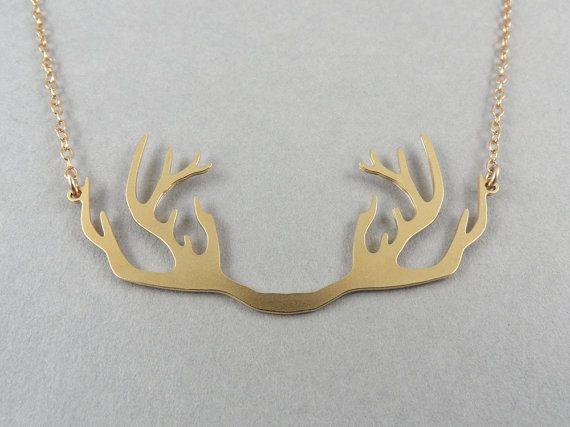Collana Cervo collana i antlers collana di BonnyRabbitBoutique