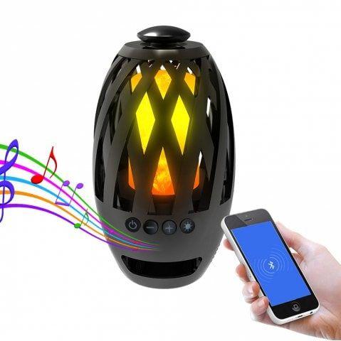 Brelong Flame Light Bluetooth Speaker Simulation Torch Outdoor