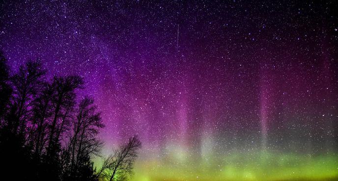 etoiles et aurore boreal - Stars and aurore boreal