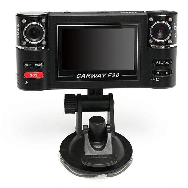 """2.7 \""""hd 1080p coche dual lente dvr video grabadora cámara de visión nocturna cámara trasera"""