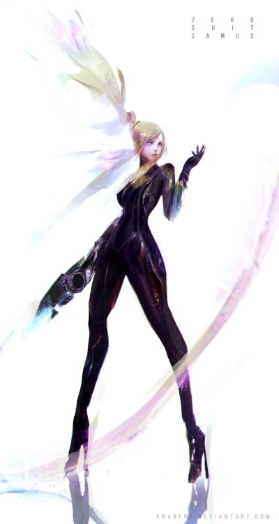 thisisforthepixels:Samus Zero Suit art by Frank Liu