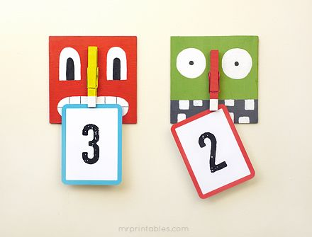 Recycle Crafts for Kids | Monster Bites! Clothespin Hanger