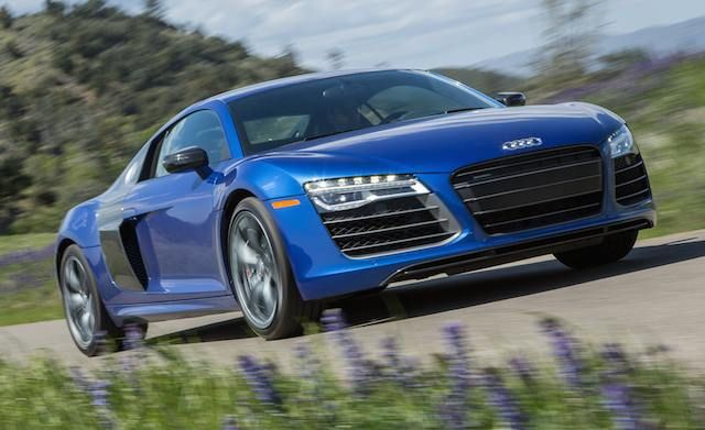 """The thinking man's exotic—if there is such a thing—the R8 combines a multitude of powertrains, still-futuristic styling, and everyday drivability in an instinctive and practical package. V8 and V10 engines are available, as are a seven-speed automatic and—our choice—a delightful six-speed manual with gated shifter. A 550-hp """"V10 Plus"""" coupe model (pictured) joined the lineup for 2014, and it ought to help satiate the appetites of the discerning folks drawn to the R8. An all-new model is just…"""