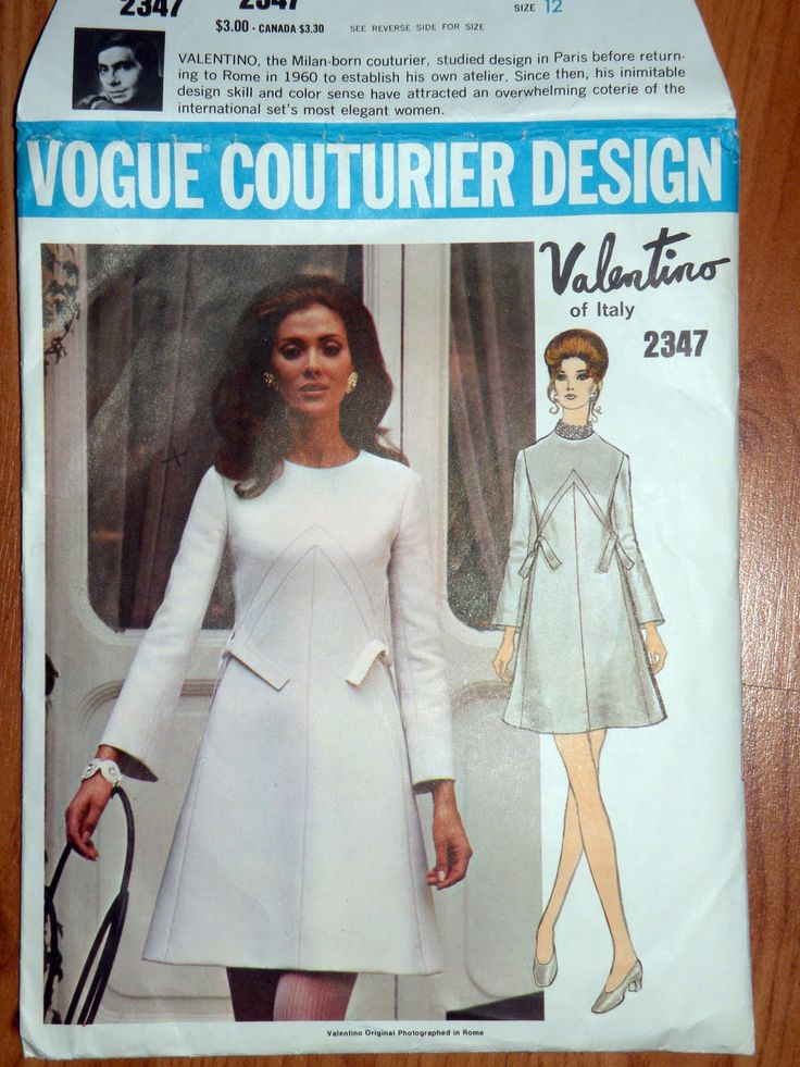 vintage+vogue+patterns | scored two designer vintage vogue patterns this funky valentino from ...