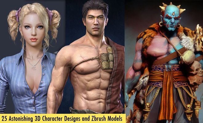 25 Astonishing 3D Character Designs and Zbrush Models for your inspiration. Read full article: http://webneel.com/25-astonishing-3d-character-designs-zbrush-models | more http://webneel.com/3d-characters | Follow us www.pinterest.com/webneel