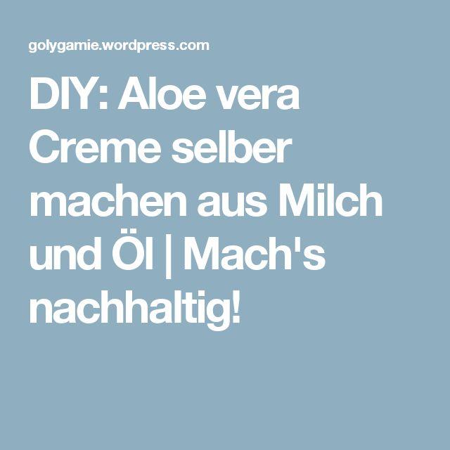 diy aloe vera creme selber machen aus milch und l aloe. Black Bedroom Furniture Sets. Home Design Ideas