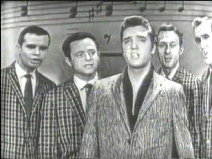 """You have to check out this rare, vintage Elvis Presley performance caught on tape! He sings the gospel song, """"Peace in the Valley."""""""