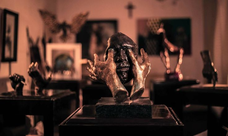 """OPEN MY EYES By Amir Attallah  In Sculpture, Bronze Size: 240(L) X 200(W) X 300(H)  Price 2500 CHF  Inspiration: Verse: Psalm 119:18 """"Open thou mine eyes, that I may behold wondrous things out of thy law""""  See it here: http://www.c-glory.ch/artwork.html #CGlory #OpenMyEyes #Artwork"""