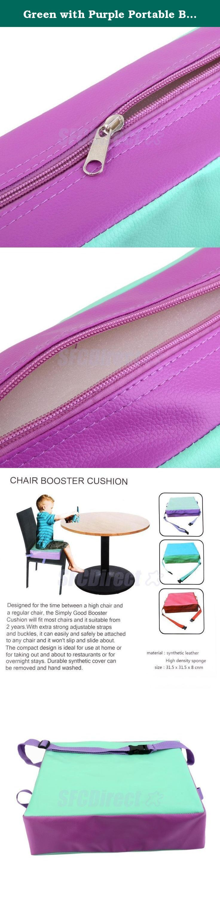 Green with Purple Portable Baby Kids Toddler Feeding High Chair Booster Seat Pad Dining Cushion. Life baby sitting in the chair to eat, because the body is not enough Gao, very convenient, even bought a special chair baby, but once their children grow up, they can not be used, and this time, we can help cushion this increase Gao to your baby, you can adjust the tightness to be split out sponge to clean and waterproof synthetic leather, food accidentally fell engage in dirty, as long as a…