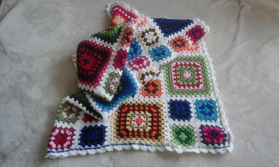 A Lovely Granny Square Throw