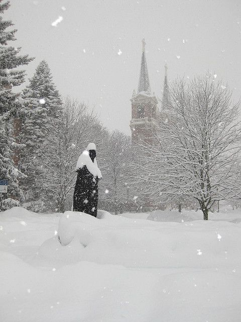 Gonzaga University in winter