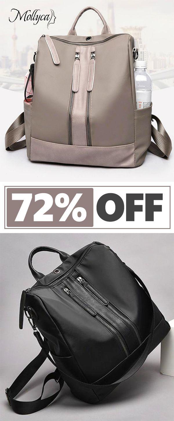 1ece2221e9  28.69 USD Sale! Free Shipping! Shop Now! Women Oxford Cloth Shoulder Bag  Travel Waterproof Backpack