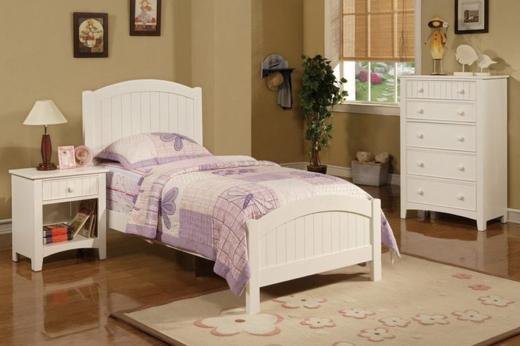 White Wood Twin Bed Frame