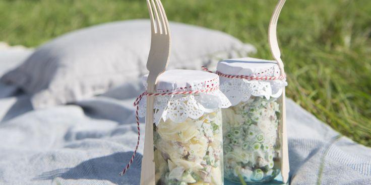 Boodschappen - Frisse aardappelsalade met yoghurt en spekjes