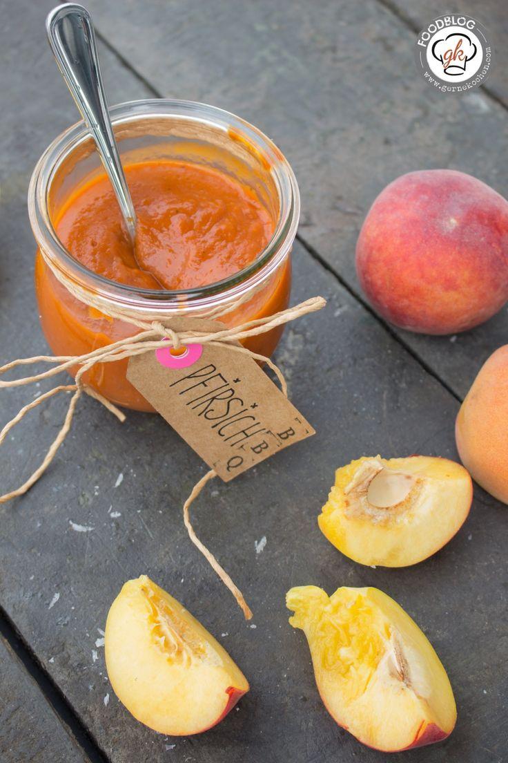 Rezept: Pfirsich BBQ-Sauce - es wird fruchtig auf dem Grill