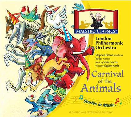 "A timeless children's classic, Carnival of the Animals is clever, charming and musically sophisticated. This is the best new recording with the original Ogden Nash verses and full London Philharmonic Orchestra. What child could ever forget: ""Elephants are useful friends, Equipped with handles at both ends. They have a wrinkled moth proof hide, Their teeth are upside down, outside."""