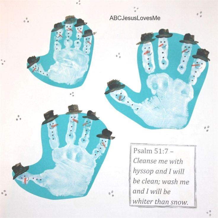 December Handprint Calendar