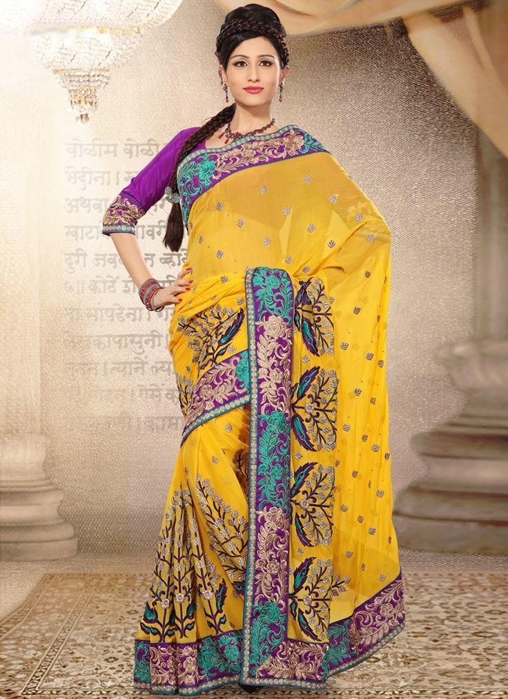 Designer saree online shopping usa, Latest indian designer saree collection 2013, Indian designer wear #weddingSarees