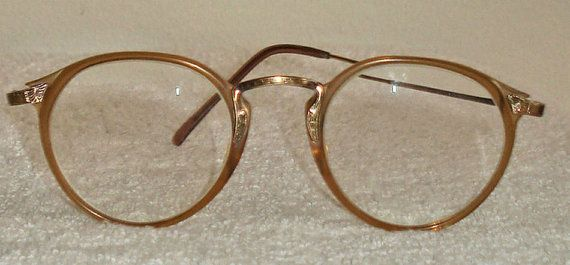 Rare Vintage Oliver Peoples OP - 27 AG, antique gold filigree, transparent amber, Unisex eyeglasses sunglasses, deco, Japan retro clubmaster tart arnel style by MushkaVintage3