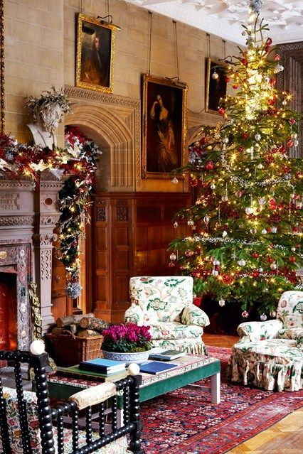 730 best victorian christmas peeking images on pinterest for Christmas hall decorations