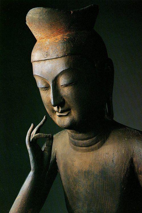 Japanese National Treasure, The Miroku Bosatsu statue 弥勒菩薩半跏像 国宝