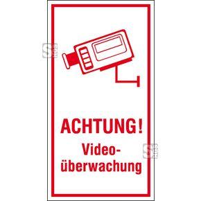Video-Infozeichen oder Hinweisschilder für installierte Videoüberwachung gesetzlich vorgeschrieben  #Alarmanlagenschild #Gebäudeüberwachung #Grundbesitzkennzeichnung #Grundstücksüberwachung #Hinweisschilder #Videoüberwachung