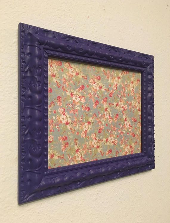Picture Frame Upcycled Handpainted Purple 8x10 Photo Frame